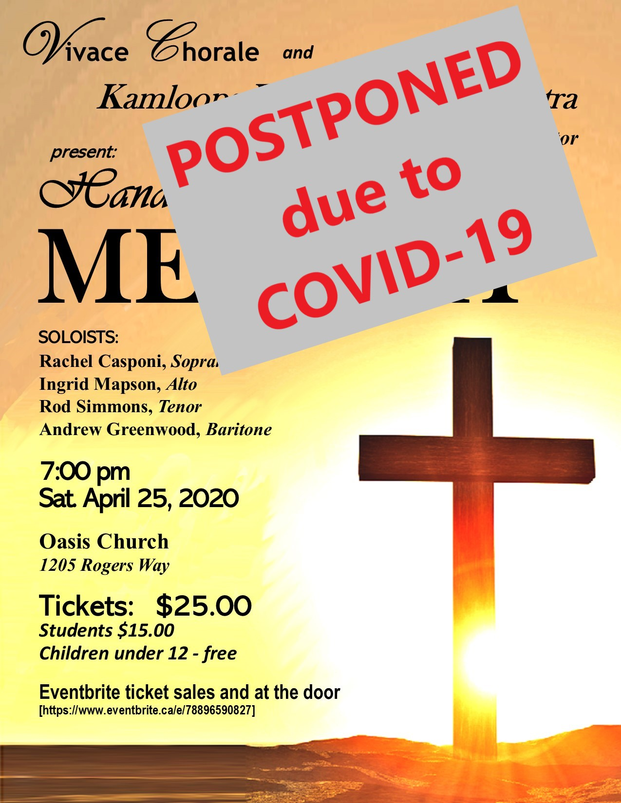 Messiah postponed due to COVID-19